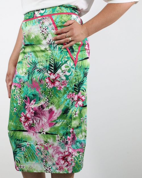 Suknja Hawaii - Zelena