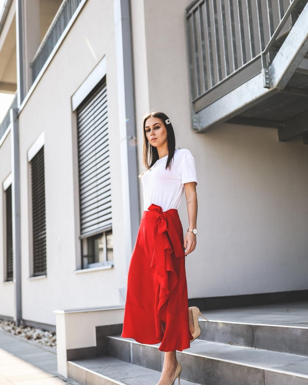Suknja Mani crvena - Ae design