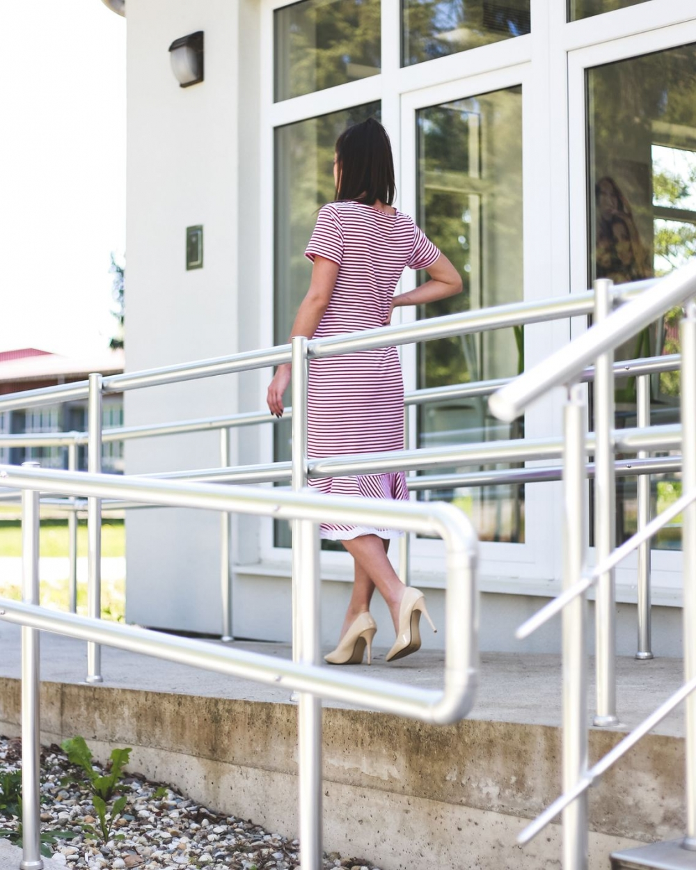 Lexi haljina crveno bijele prugice - Ae design